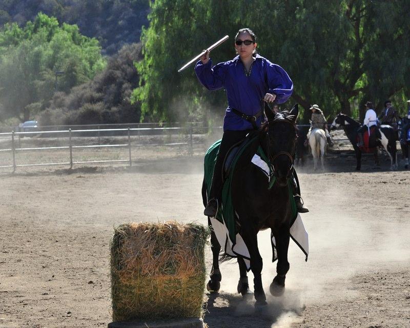 Lady Alyssa Practices Javelin